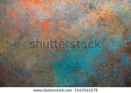 Rusty metal background. Color steel texture Stockfoto ©