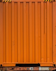 Rusty metal background with old layers . Texture rusted shipping container. Peeling paint rusting metal rough texture