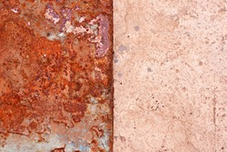 Rusty metal cement with paint drips texture background