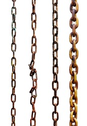 Rusty metal chains