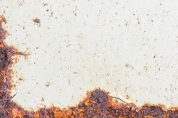 Rusty Metal, Corrosion of the surface, Grunge texture or background.