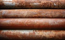 rusty metal pipe