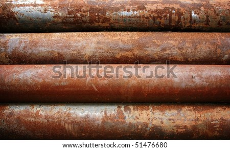 rusty metal pipe