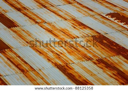 Rusted Metal Roof Texture Rusty metal roof texture
