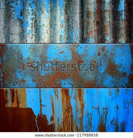 rusty metal set