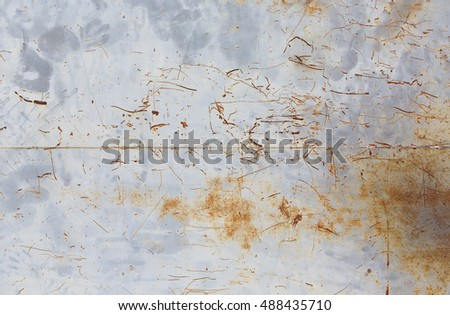 Rusty metal sheet wall texture for background #488435710