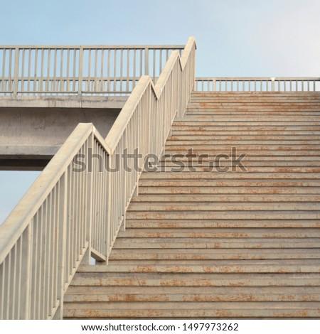 Rusty metal stairs. Metal stairs. Details.