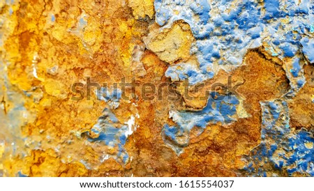 Rusty metal surface, grunge background, with chipping paint