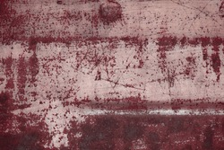 Rusty metal texture. Corroded grey iron background. Steel surface rusted spots. Vintage industrial backdrop.