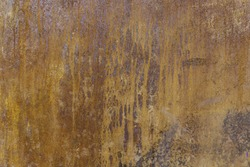 Rusty metal wall, detail of a textured background, poor condition