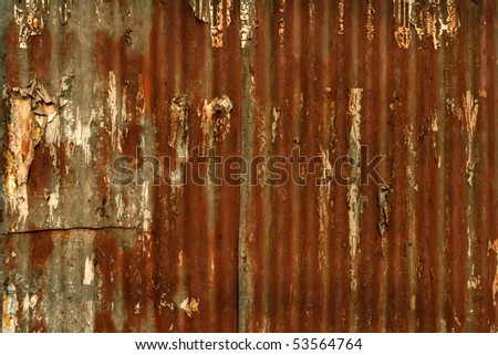rusty metal wall in the philippines
