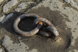 rusty mooring ring for boats
