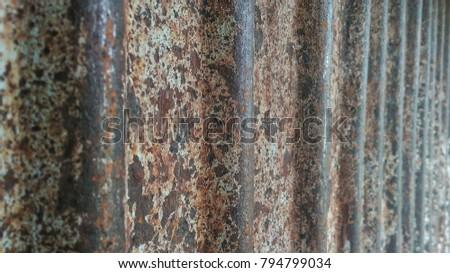 Rusty old metal plate #794799034