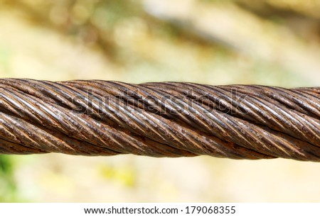 rusty on steel cable
