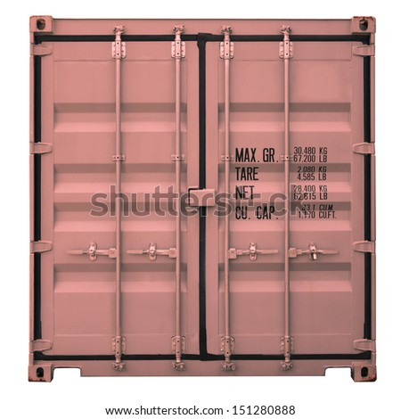Rusty orange container doors