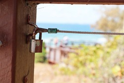 Rusty padlock representing outdated security measures
