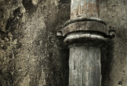 rusty pipe background