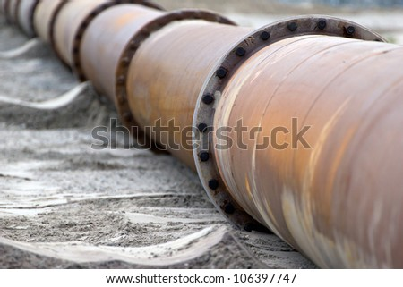 Rusty Pipeline - stock photo