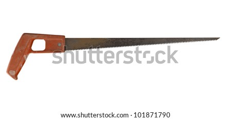 Rusty saw isolated on white background ( clipping path )