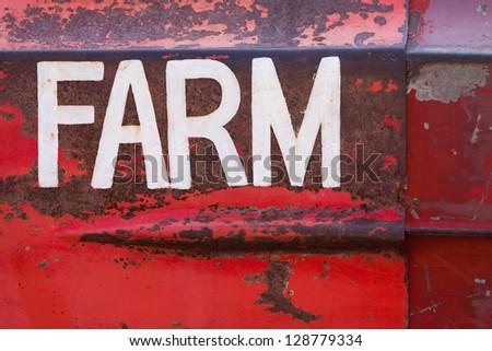 Rusty steel on a farm truck