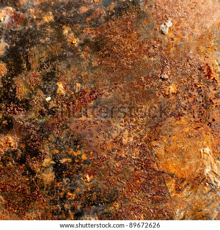 Rusty Texture of a Metal Spatula