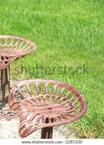Rusty tractor seat