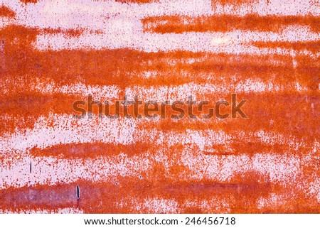 rusty vintage metallic iron pink orange horizontal background