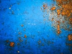Rusty Zinc plate with grunge, abstract texture background.