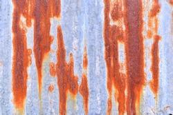 Rusty zinc wall for texture backgrounds