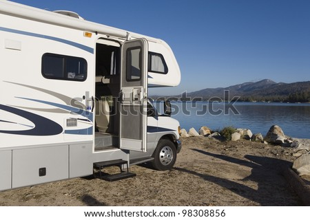 RV by a Lake