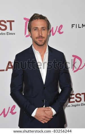 "Ryan Gosling at the Los Angeles Film Festival premiere of his new movie ""Drive"" at the Regal Cinemas, L.A. Live. June 17, 2011  Los Angeles, CA Picture: Paul Smith / Featureflash"
