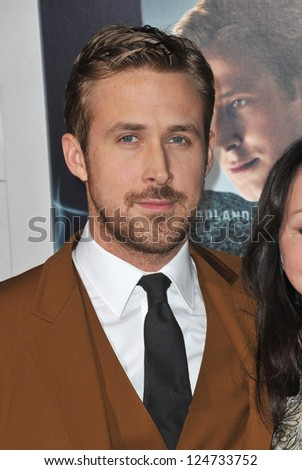 "Ryan Gosling at the world premiere of his movie ""Gangster Squad"" at Grauman's Chinese Theatre, Hollywood. January 7, 2013  Los Angeles, CA Picture: Paul Smith"