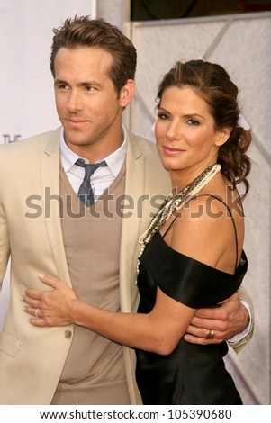 Ryan Reynolds and Sandra Bullock  at the Los Angeles Premiere of 'The Proposal'. El Capitan Theatre, Hollywood, CA. 06-01-09
