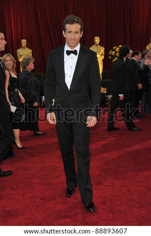 Ryan Reynolds at the 82nd Annual Academy Awards at the Kodak Theatre, Hollywood. March 7, 2010  Los Angeles, CA Picture: Paul Smith / Featureflash