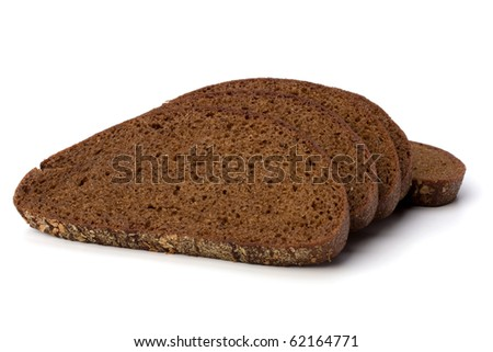 rye bread isolated on white background