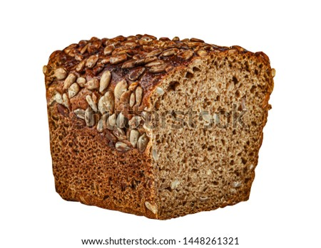 Rye rye bread isolated on white. #1448261321