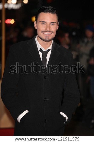 Rylan Clark arriving for the premiere of 'Les Miserables' at Leicester Square, London. 05/12/2012 Picture by: Alexandra Glen