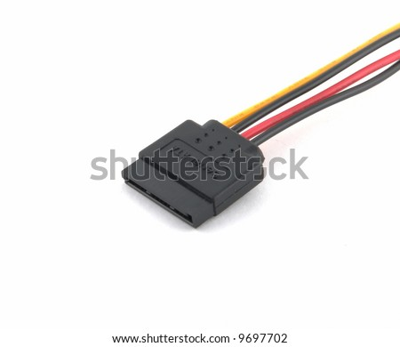 S-ATA Power cord in white background
