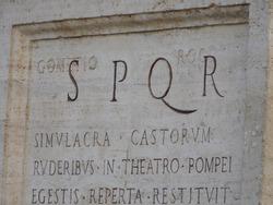 S.P.Q.R. Rome, Italy