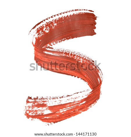 S - Red letters over white background
