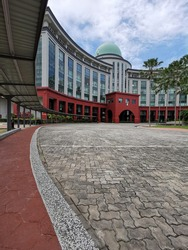 Sabah,Malaysia - February 5 2021 : The Federal building complex also known as the mini Putrajaya located in Kota Kinabalu, Sabah Malaysia.