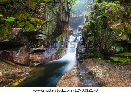Sabbaday Falls in White Mountain National Forest in New Hampshire, United States #1290012178