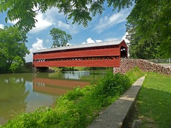 Sach's Covered Bridge in Gettysburg, PA.  Being resubmitted with adjustments to sharpening and size.