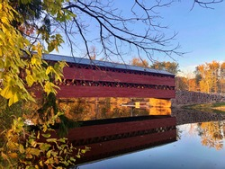 Sach's Covered Bridge on a Fall Day