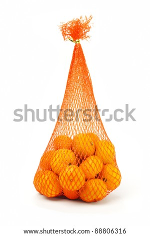 Sack of mandarin oranges for Chinese New Year