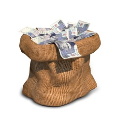 Sack of One Thousand (1000) Rupess Pakistani Currency Notes