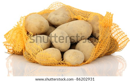Sack of Potatoes - stock photo