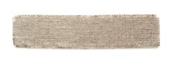 Sackcloth Piece isolated on a white background.