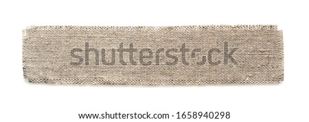 Sackcloth Piece isolated on a white background. Foto d'archivio ©