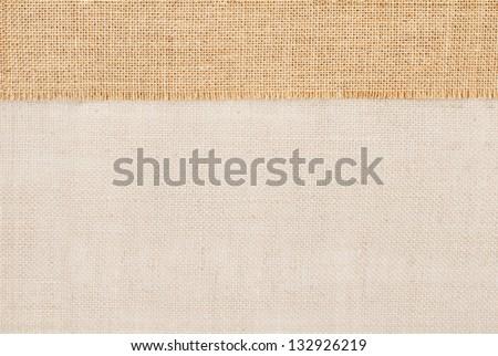 Sackcloth tag pricing over burlap texture